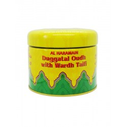 Duggatal Oudh With Wardh Taifi 100g Al Haramain Bokhoor Al haramain Bakhour incense
