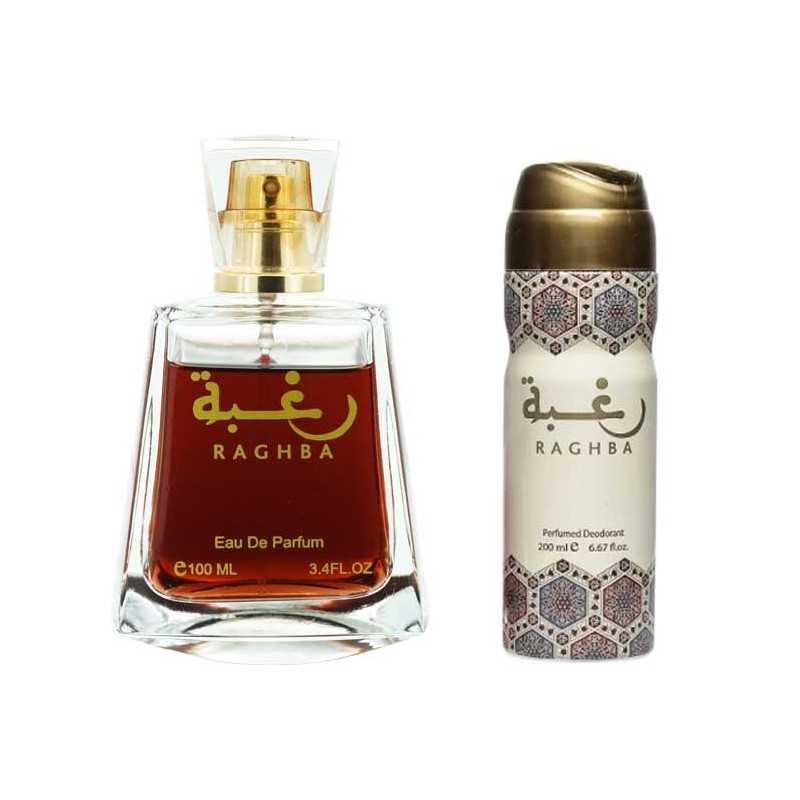 Raghba - lattafa mixed perfume water Lattafa Vanilla perfumes