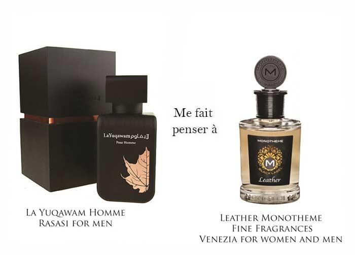 la yuqawam homme & leather monotheme fine fragrances