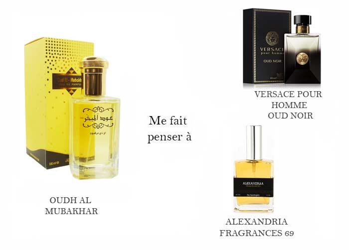 oud al mubakhar & versace oud noir & alexandria fragrance